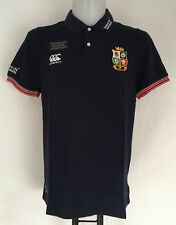 BRITISH AND IRISH LIONS NAVY PIQUE TRAINING POLO BY CANTERBURY SIZE EXTRA SMALL