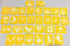 30 x Henna Design Stencils Airbrush Temporary Tattoo Glitter Body Art Ink