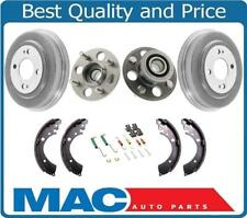 Brake Drums Wheel Hub Bearing Brake Shoes Hardware Kit Honda Civic 96-00 w ABS