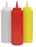 3pc Large Squeeze Sauce Bottle Dispenser Mayo Ketchup Mustard BBQ Condiment 10oz