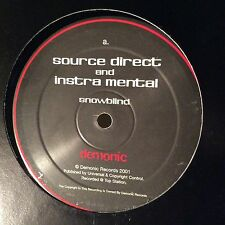 """Source Direct and Instra Mental – Snowblind / The Place VG+ Demonic 12"""" VINYL"""