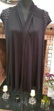 Black Waterfall Cardigan Size 16