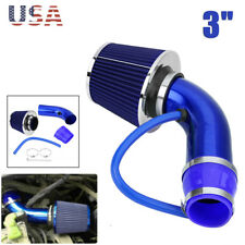 "3"" Auto Cold Air Intake Filter Alumimum Induction Kit Pipe Hose System Universal"