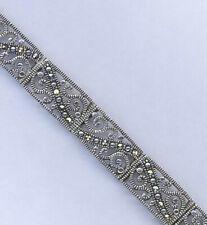 Lovely vintage sterling silver & marcasite bracelet