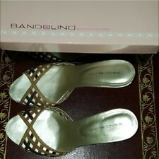 614b345433d4 Bandolino natural snakeskin leather dress heeled sandals or slides. Size 7.5