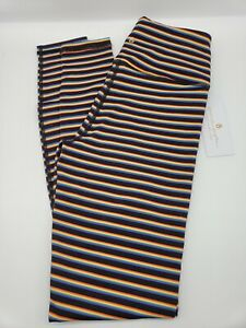 NWT Spiritual Gangster Essential High Waist Legging Black Rainbow Stripe - Small