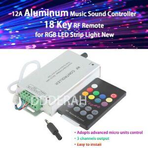 12A Music Sound Controller 18 Key RF Remote RGB LED Strip Light DJ New 12V - 24V