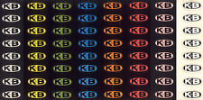 K&B SLOT CAR RACING 64 OVAL RACECAR BODY STICKERS DECALS - ONE FULL SHEET SCARCE