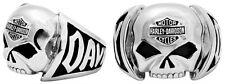 Harley Davidson Mens Steel Willie G Skull with B&S Ring (10)