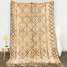 9'6x6'5 100% Authentic Beni Ourain Moroccan Vintage All Wool Premium Rug
