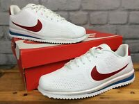 NIKE MENS CORTEZ ULTRA MIOIRE WHITE RED BLUE TRAINERS VARIOUS SIZES RRP £75