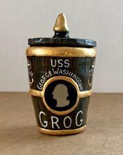 "USS GEORGE WASHINGTON Navy Chief Grog Barrel 3.5"" Polymer Art + Navy CPO Coin"