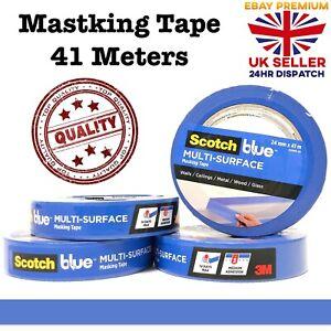 Blue Painters Clean Peel Masking Tape 41m Long Lasting 3M Tapes Multi Surface
