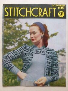 STITCHCRAFT October 1945 - Needlework Magazine
