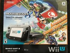 Nintendo Wii U Mario Kart 8 Bundle Deluxe Set 32gb Console (Black Model)