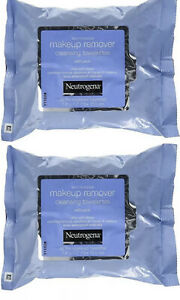 2 Neutrogena Make Up Remover Cleansing Facial Towelettes Refills Packs of 25