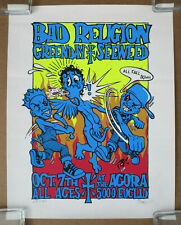BAD RELIGION GREEN DAY Agora CLEVELAND 1993 PUNK Concert POSTER Signed Numbered
