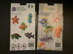 NEW Lot of 2 WILTON SEA CREATURES LOLLIPOP CANDY MOLD