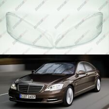 New Original Headlight Headlamp Lens Plastic Cover (PAIR) Mercedes S W221 LCi