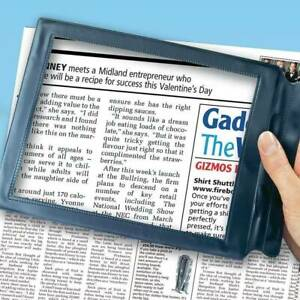 A4 Full Page Magnifier Sheet Magnifying Glass Reading Aid Lens Xmas Gift
