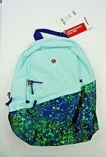 "Wenger® Criso Backpack With 16"" Laptop Pocket, Pale Aqua/Green Paint Splatter"
