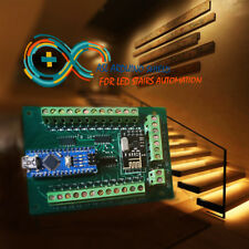 Automatic led stairs lighting  controller arduino shiel