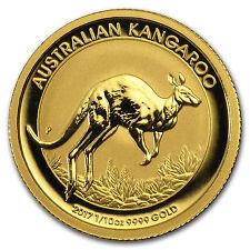 2017 1/10 oz Gold Australian Kangaroo Coin .9999 Fine Brilliant Uncirculated BU