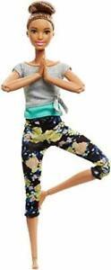 """Barbie Made to Move 11"""" Doll 22-Flexible Joints Creative Pose Floral Yoga Pants"""