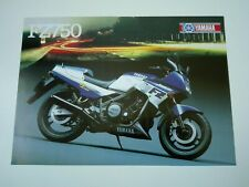 Prospectus Catalogue Brochure Moto Yamaha FZ 750 1986