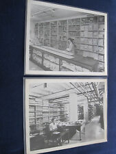 2 ORIGINAL VINTAGE B&W PHOTOS of MGM SCRIPT DEPARTMENT - RARE Behind the Scenes