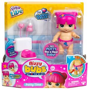 Little Live Bizzy Bubs Season Baby Playset - Clever Chloe - Potty Time NEW