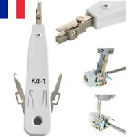 Outil Raccordement LSA Push Knife Pince Coupe-Fil Poinçon RJ45 LAN Téléphone