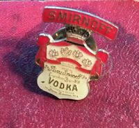 Smirnoff vodka red white enamel Logo Vintage 70s metal tie lapel pin badge