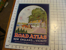 Original Early PRINTING SAMPLE: Road Atlas New England & Vicinity -- Jenny Gas