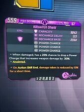 PS4 Level 57 Killswitch Shield Borderlands 3