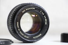 Minolta MD ROKKOR 50mm 1.4 Prime Lens ***** Reduced Price! *****