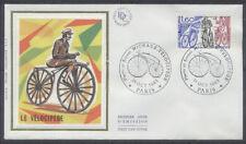 FRANCE FDC - 2290 1 MICHAUX VELOCIPEDE - PARIS 1 Octobre 1983 - LUXE sur soie