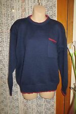 VINTAGE  ~ BY DESIGN ~ Navy/Rust Wool JUMPER  * Size 12 * REDUCED !!