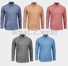 Mens Four Seasons Shirts Gingham Check Long Sleeve Casual Formal Size M L XL XXL