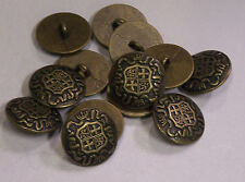 8pc 20mm Germanic Teutonic Inspired Bronze Metal Military Button 2105