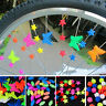 Bicycle Accessories Bike Wheel Spoke Bead Clip Decoration Plastic Colored 36PCS
