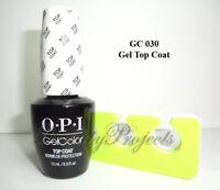 OPI GelColor Top Coat GC 030 Soak Off LED/UV Gel .5oz +BONUS ITEM
