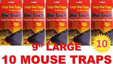 10 LARGE Sticky Glue Rat Mice MOUSE TRAPS Bait No Poison Rodent Pest Control RED