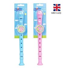 PEPPA PIG RECORDER Musical Instrument Whistle Flute Band Birthday Toy Gift UK