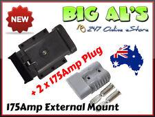 175Amp Anderson External Mounting Mount Kit Bracket Dust Cap Cover + 2 Grey Plug