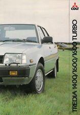 Mitsubishi Colt Tredia 1982-85 UK Market Foldout Sales Brochure GLX GLS Turbo