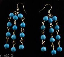 Dangle Earrings Cje033 Turquoise Multi Drop Beaded