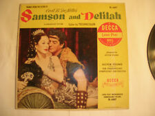 """SAMSON AND DELILAH ORIGINAL 10"""" VICTOR YOUNG SOUNDTRACK NEAR MINT on DECCA"""