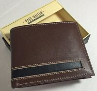 NEW  ROLFS MEN BLACK BI-FOLD WALLET SUPERIOR LEATHER NEW GREAT GIFT FOR HIM