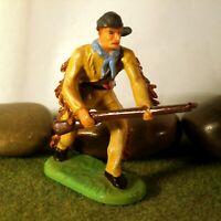 Original Hausser Elastolin 7cm Cowboy/Trapper naturgetreu & handbemalt N°6982